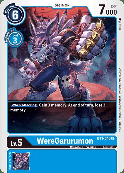 BT1-040 Were Garurumon  ( Uncommon)