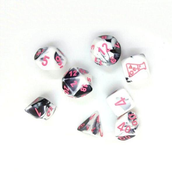 CHX 30043 Gemini Black-White/Pink 7-Die Set