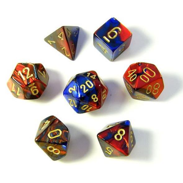 CHX 26429 Gemini Blue-Red/Gold 7-Die Set