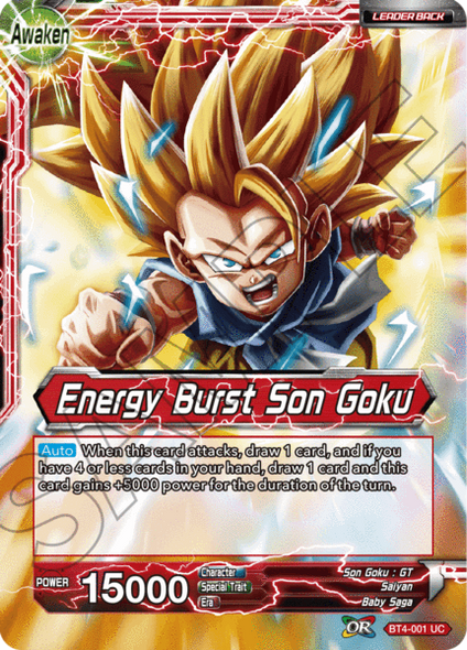 BT4-001 Son Goku / Energy Burst Son Goku