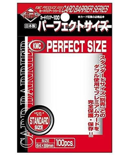 KMC Perfect Size Sleeves (64x89mm) x100 (Top Loaded)