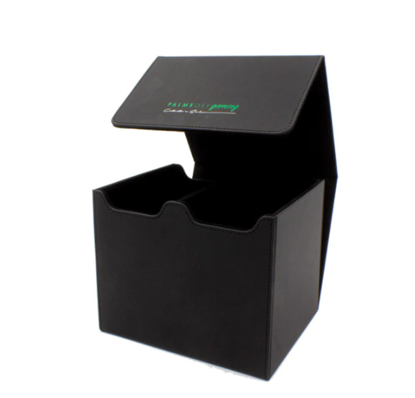 Australian Owned Card Protection!  Introducing our NEW Palms Off Gaming Deluxe PSA Storage Box, boasting a 40 PSA capacity!* We have worked to ensure only the best materials were used to bring you this storage box to market - and without a ludicrous price tag.  Features  Supremely sturdy design Strong magnet closure 2 Storage rows, holding up to 20 PSA in each* Polyester Felt inside cover Deluxe Textured PU Leather Dimensions (Width x Height x Depth): 17.8cm x 14.9cm x 15.5cm  Protect with the best!