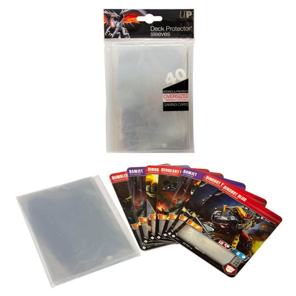 ULTRA PRO - Oversized Clear Top Loading Deck Protector Sleeves 40ct