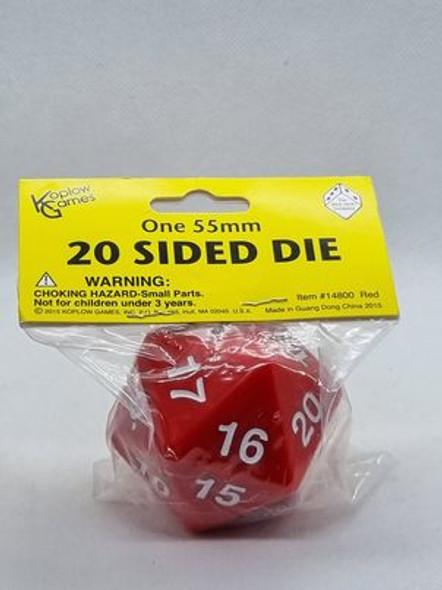 Super Jumbo 55mm D20 Countdown Die - Red