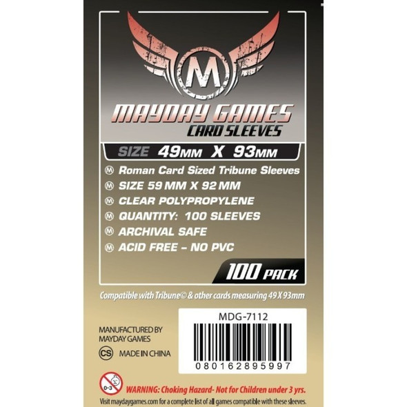 Mayday - Roman Card Sized Tribune Sleeves (Pack of 100) - 49 X 93 MM