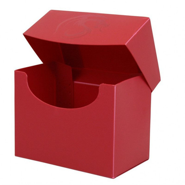 BCW Deck Case Box Side Loading Red (Holds 80 cards)