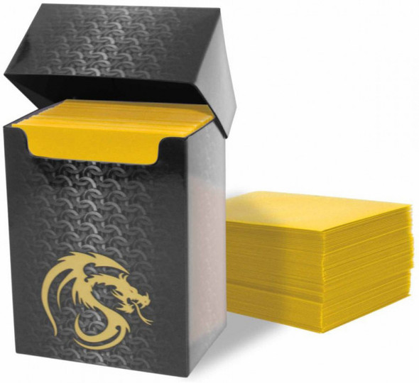 BCW Deck Guards Box and Deck Protectors Double Matte Yellow (80 Sleeves)