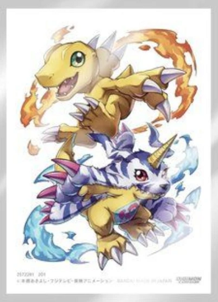 Digimon Card Game Official Sleeves 60ct, Set 2-  Agumon and Gabumon