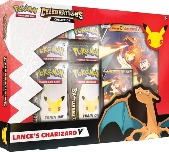 POKÉMON TCG Celebrations Collections - V Box (Lance's Charizard V and Dark Sylveon V)