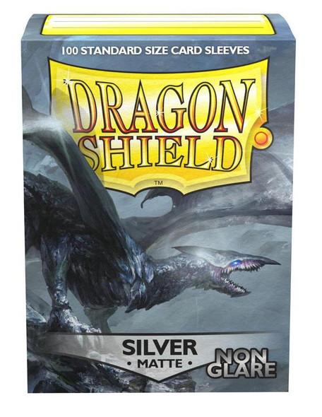 Sleeves - Dragon Shield - Box 100 -  Non Glare - Silver