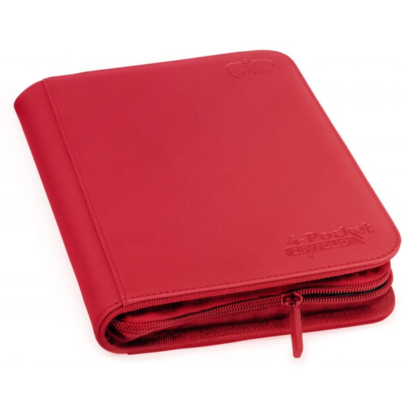 Ultimate Guard 4-Pocket ZipFolio XenoSkin Folder - Red (ON DEMAND)