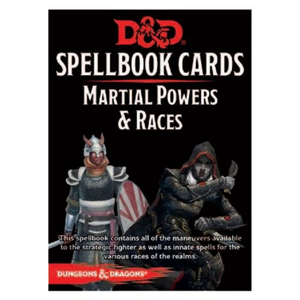 D&D Spellbook Cards Martial Powers & Races Deck (61 Cards) Revised 2017 Edition