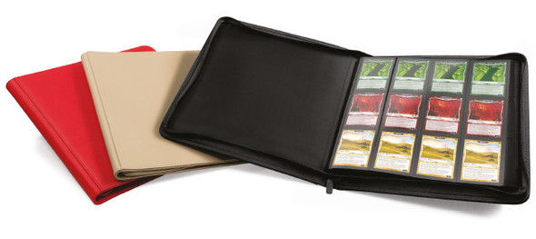Ultimate Guard 12-Pocket QuadRow Zipfolio Folder (ON DEMAND) - Black