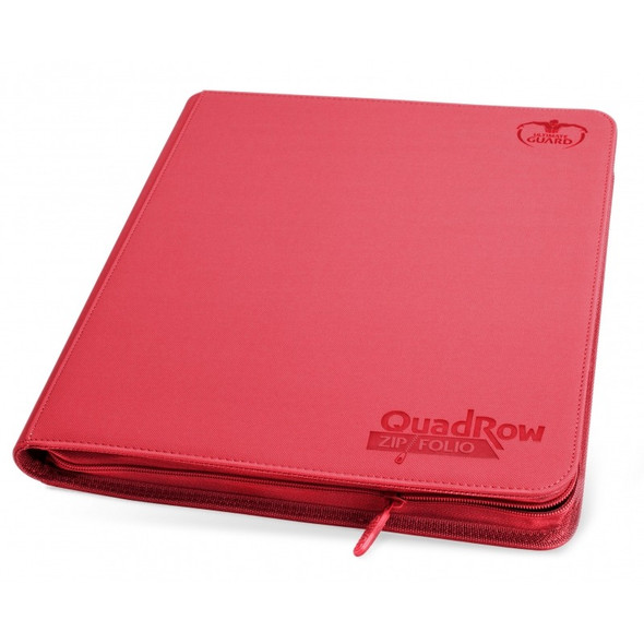 Ultimate Guard 12-Pocket QuadRow Zipfolio Folder (ON DEMAND) - Red