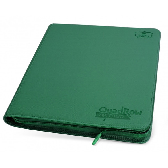 Ultimate Guard 12-Pocket QuadRow Zipfolio Folder (ON DEMAND) - Green
