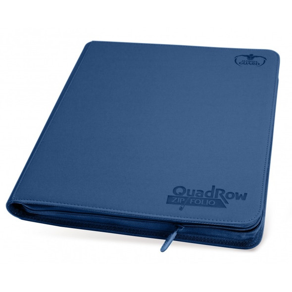 Ultimate Guard 12-Pocket QuadRow Zipfolio Folder (ON DEMAND) - Dark Blue
