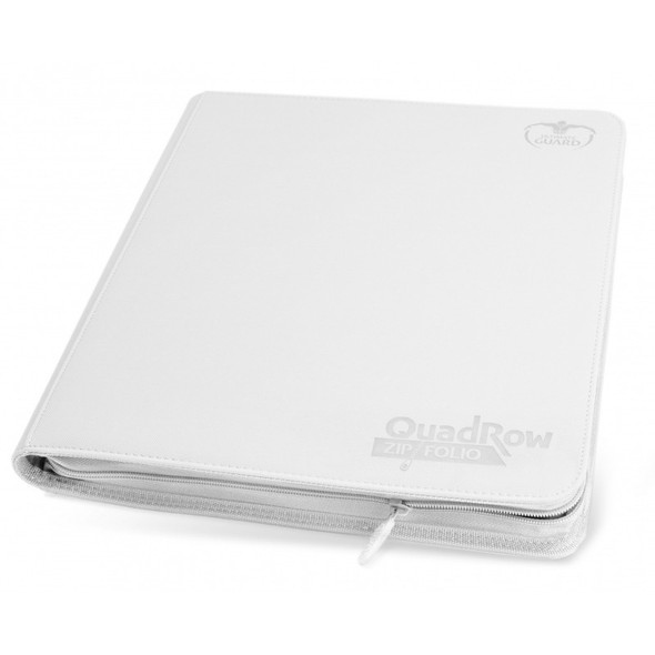 Ultimate Guard 12-Pocket QuadRow Zipfolio Folder (ON DEMAND) - White