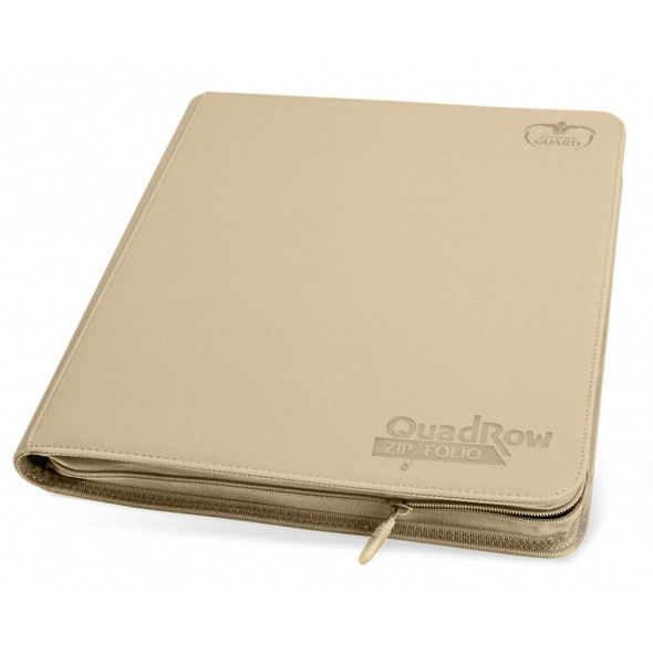 Ultimate Guard 12-Pocket QuadRow Zipfolio Folder (ON DEMAND) - Sand