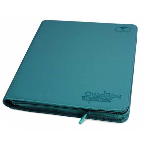 Ultimate Guard 12-Pocket QuadRow Zipfolio Folder (ON DEMAND) - Petrol Blue