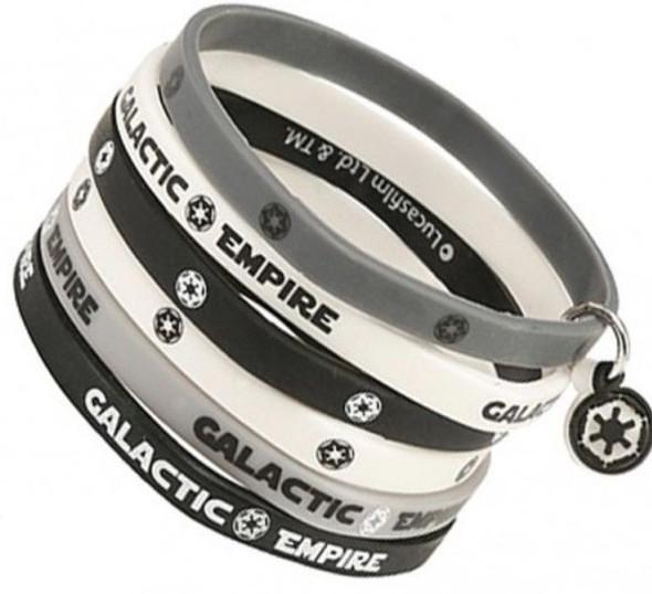 Star Wars Rubber Wristband x6 - Empire