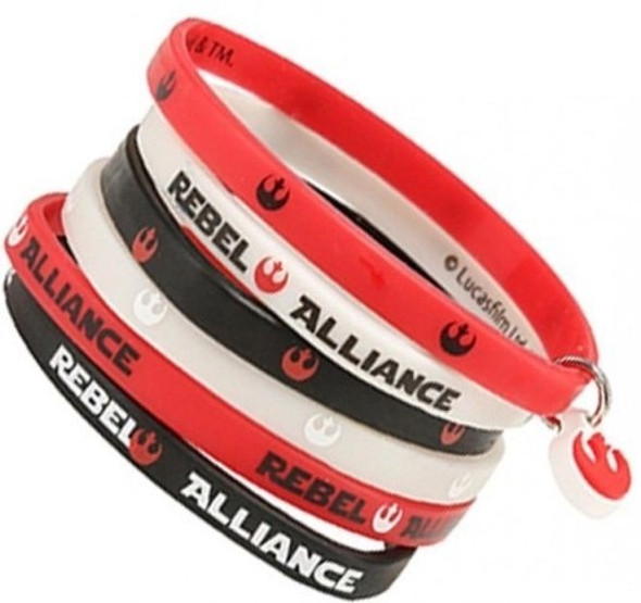 Star Wars Rubber Wristband x6 - Rebel