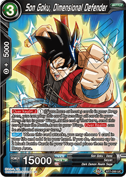 BT7-099 Son Goku, Dimensional Defender (Series 7 Pre-release)