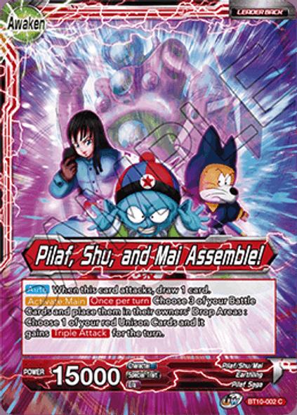 BT10-002 Pilaf / Pilaf, Shu, and Mai Assemble!