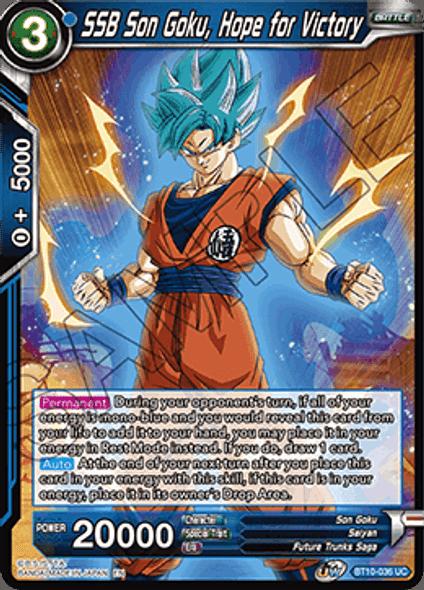 BT10-036 SSB Son Goku, Hope for Victory