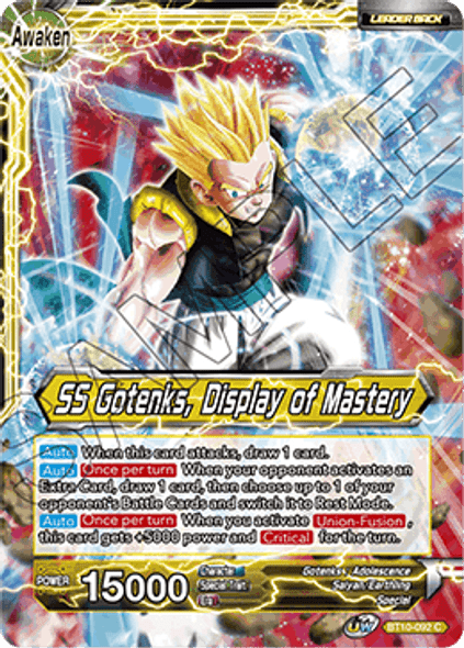BT10-092 Gotenks / SS Gotenks, Display of Mastery