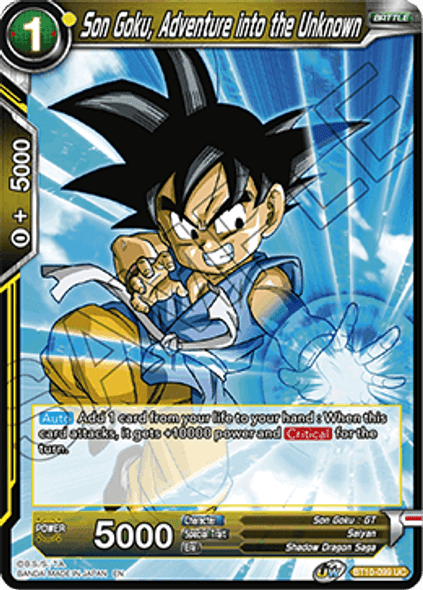 BT10-099 Son Goku, Adventure into the Unknown