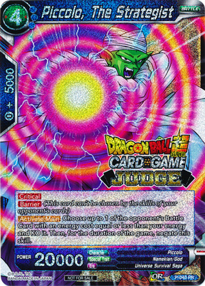 P-040 Piccolo, The Strategist (Judge Stamped)
