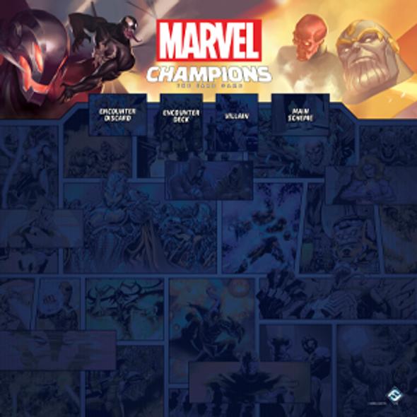 Marvel Champions LCG 1-4 Player Game Mat (On Demand)