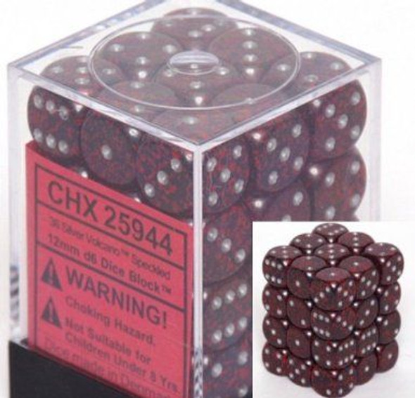 CHX 25944 Speckled 12mm d6 Silver Volcano (36)