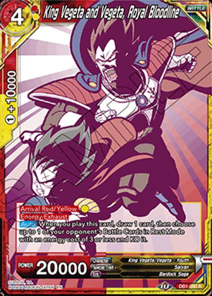 DB1-090 King Vegeta and Vegeta, Royal Bloodline (Alternate)