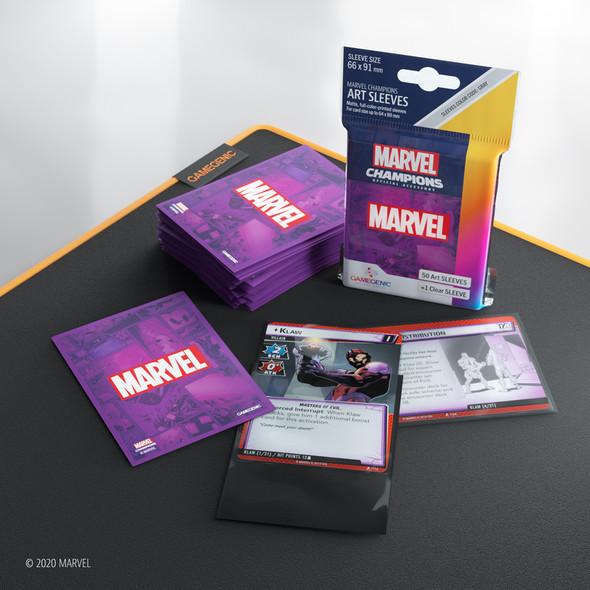 Gamegenic Marvel Champions Art Sleeves Marvel Purple