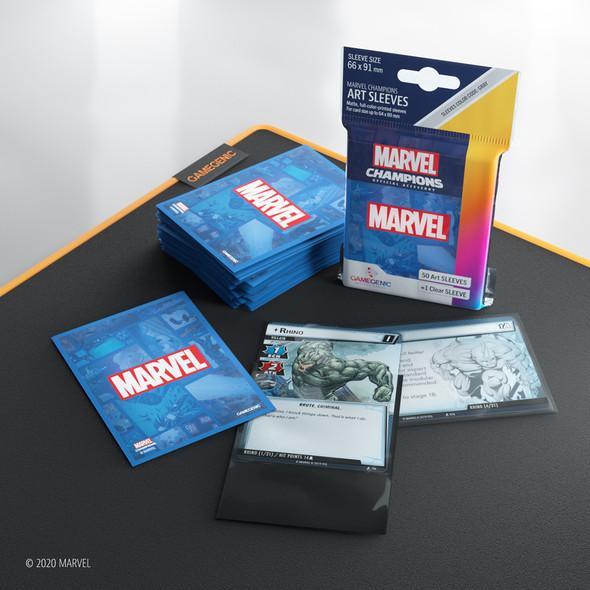 Gamegenic Marvel Champions Art Sleeves Marvel Blue