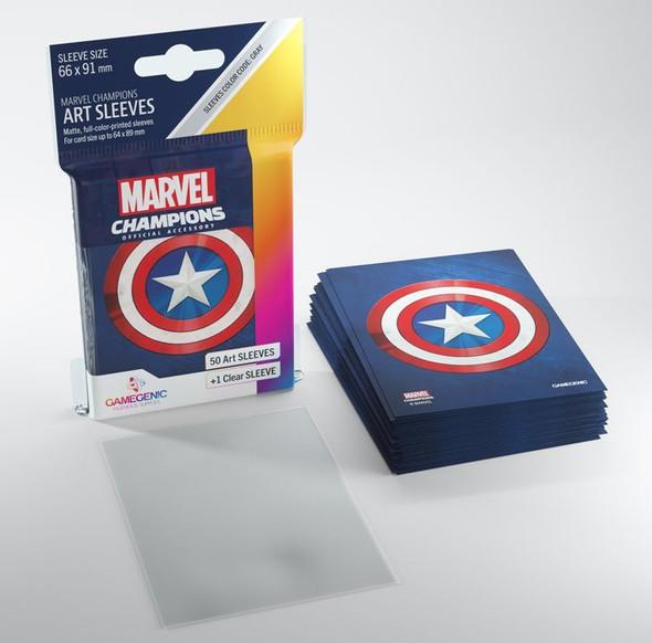 Gamegenic Marvel Champions Art Sleeves Captain America