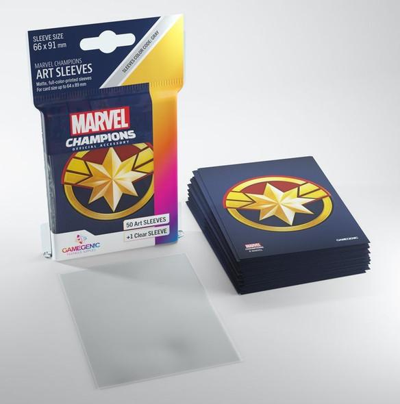 Gamegenic Marvel Champions Art Sleeves Captain Marvel