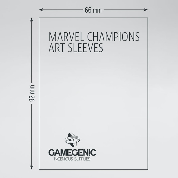 Gamegenic Marvel Champions Art Sleeves Marvel Orange