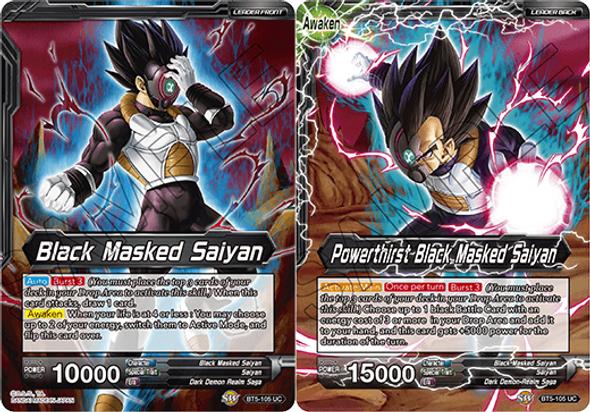 BT5-105 Black Masked Saiyan / Powerthirst Black Masked Saiyan