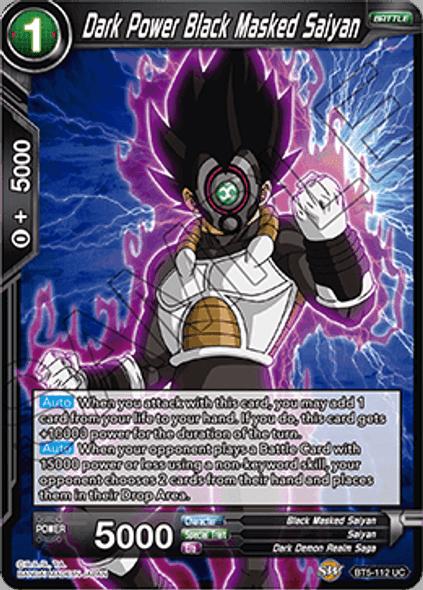 BT5-112 Dark Power Black Masked Saiyan