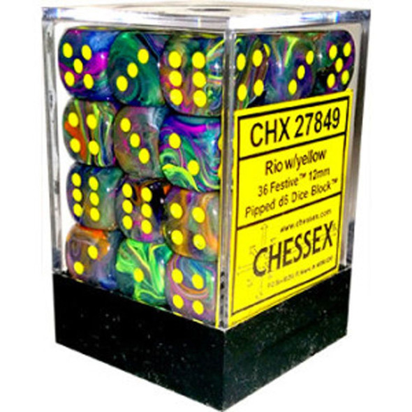 CHX 27849 Festive Rio/Yellow 12mm Brick 36