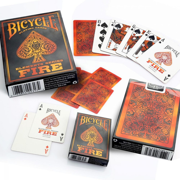 Bicycle Fire Playing Cards (on demand)
