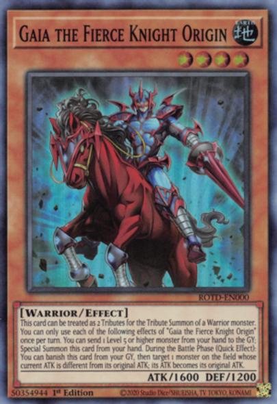 Gaia the Fierce Knight Origin ROTD-EN000 1st Ed