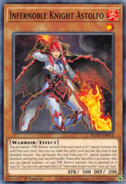Infernoble Knight Astolfo ROTD-EN012 1st Ed