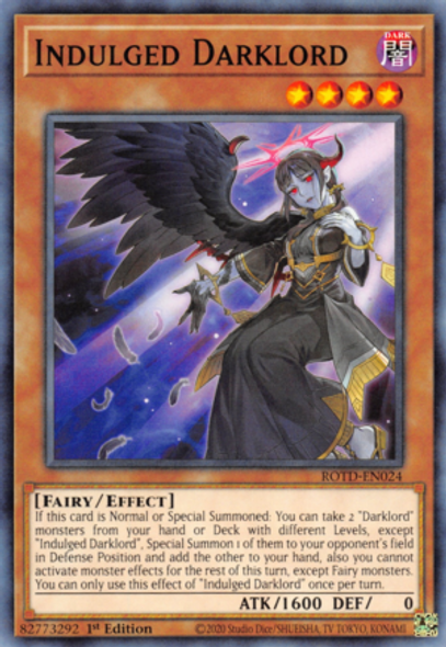 Indulged Darklord ROTD-EN024 1st Ed