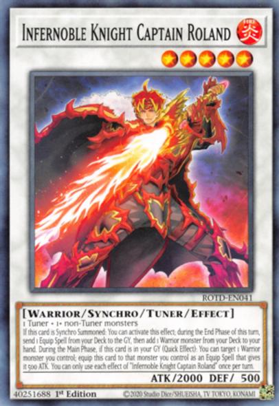 Infernoble Knight Captain Roland ROTD-EN041 1st Ed