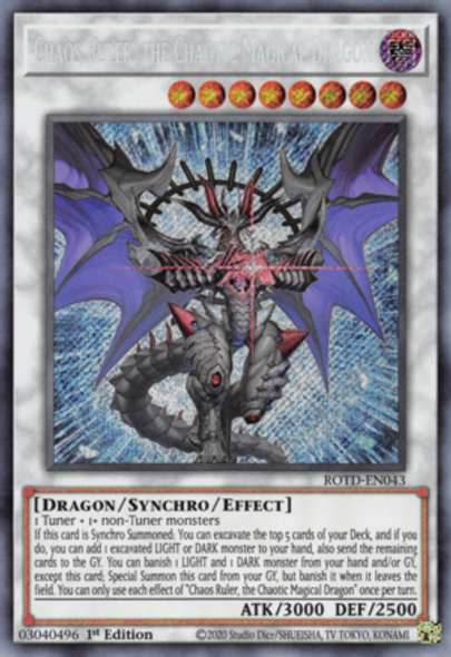 Chaos Ruler, the Chaotic Magical Dragon ROTD-EN043 1st Ed