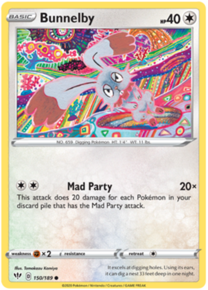 Bunnelby 150/189 - Reverse Holo