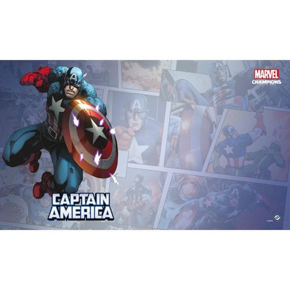Marvel Champions LCG Captain America Game Mat (On Demand Order)